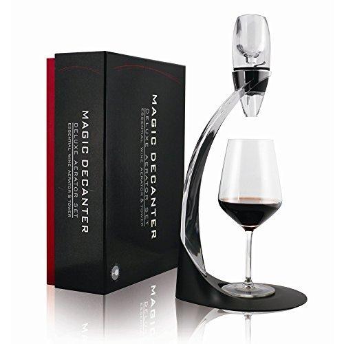 Mayshion Wine Aerator Pourer Stand Gift Set  Corkscrew  Bottle Stopper
