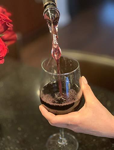 Avanti Wine Aerator Pourer - Premium Aerating Pourer and Decanter Spout Black