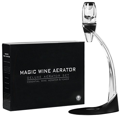 Gnnyoho Wine Aerator Set Red Wine Decanter with Aerator Wine Pourer Bottle Stopper Cork Opener and Stand Wine Accessories Wine Gift Set