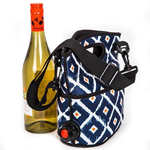 The Original Turkey Vulture Wine Bag Diamond Pattern