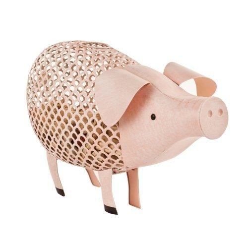 Corks Holder Country Cottage Pink Pig Metal Rustic Decorative Cork Wine Holder