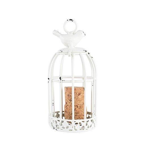 Decorative Cork Holder Twine Rustic White Metal Cage Wine Cork Holders Decor
