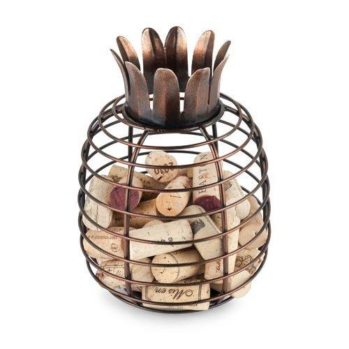 Wine Cork Holder Juicy Pineapple Tabletop Decorative Metal Rustic Cork Holder