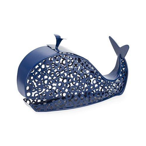 Wine Cork Holder Rustic Blue Spritz Whale Decorative Metal Animal Cork Holder