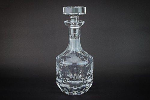 Cut Glass Vintage Port DECANTER Dessert Wine Scotch CARAFE Panelled Spirit Modernist Mallet English LS