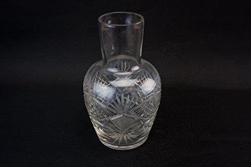 Shouldered Vintage Wine Port DECANTER Sherry Traditional CARAFE Cut Glass Crosshatch Old 1930s LS