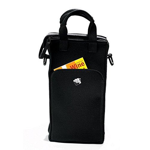 Wine Enthusiast 2-Bottle Neoprene Wine Tote Bag