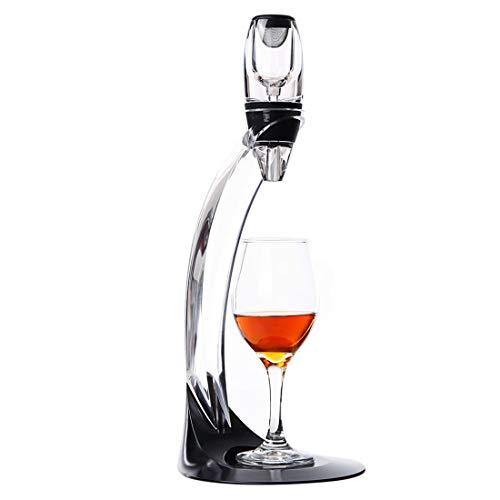 KERVINJESSIE Wine Aerator Pourer 1 Pack Wine Aerating Pourer Wine Decanter Spout Red Wine Air Aerator for Wine Lover-Gift Set