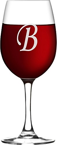 Custom Initial Wine Glass with ANY letter - WG03