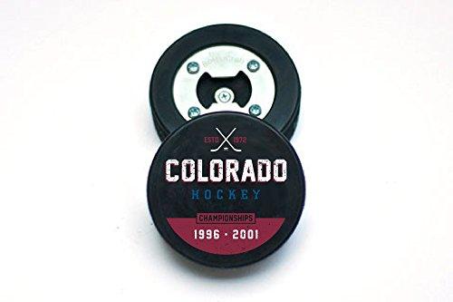 The PuckOpener - Hockey Puck Bottle Opener - Colorado Champs