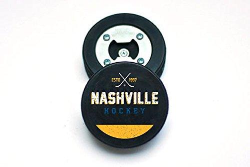 The PuckOpener - Hockey Puck Bottle Opener - Nashville