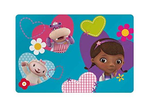 Zak Design Disney Doc McStuffins Kids Meal Time Plastic Placemat Makes Clean Up A Breeze