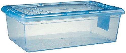 IRIS 6 Quart Modular Storage Box Blue