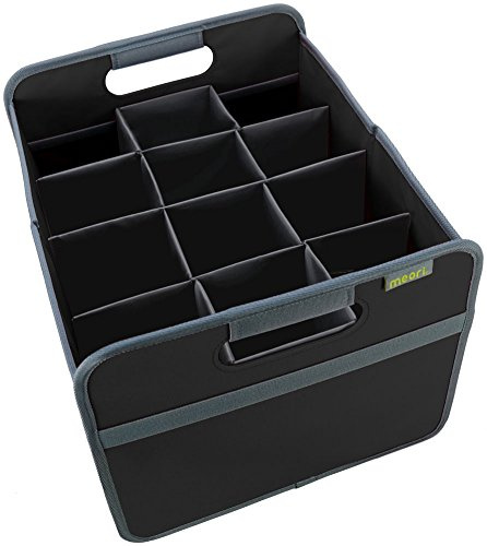 meori 12 Bottle Wine Carrier - includes Medium Foldable Storage Box 22 Liter  65 Gallon Lava Black a Protective 12 Bottle Insert - A Better Way to Carry a Case of Wine Up To 65lbs