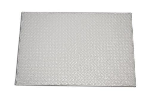 Faux Leather Placemat multiple colour options White
