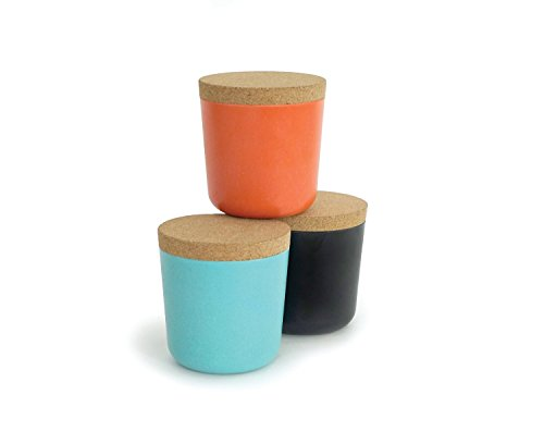 Biobu by Ekobo 15 oz Gusto Storage Jar Set in Gift Box Large PersimmonBlackLagoon