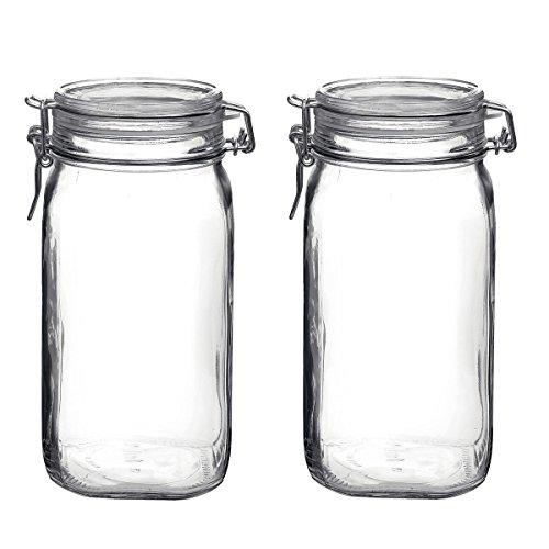 Bormioli Rocco Fido Glass 5075 Ounce Food Storage Jar Set of 12