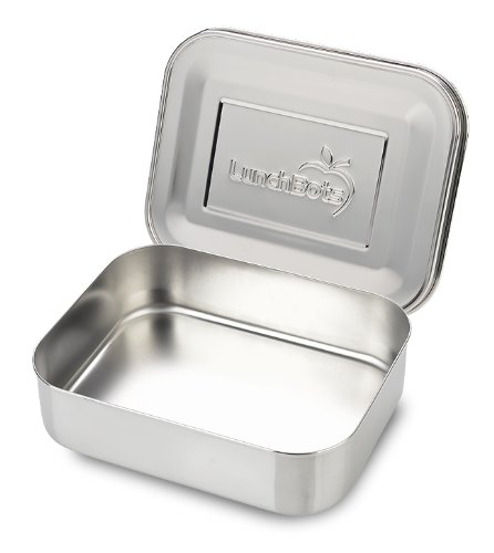 LunchBots Uno Stainless Steel Food Container - Open Design Perfect for Sandwiches Wraps Salads or a Small Meal - Eco-Friendly Dishwasher Safe and BPA-Free - All Stainless