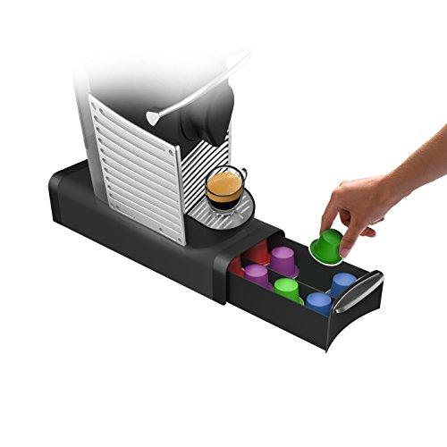 Mind Reader Coffee Pod Storage Drawer for K-Cups Verismo Dolce Gusto Holds 12 K-Cups 16 Nespresso Capsules 14 CBTL Verismo Dolce Gusto Black
