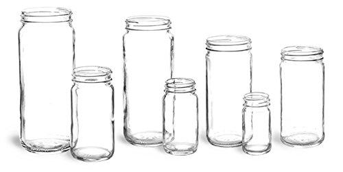 8 oz Glass Jars Clear Glass Paragon Jars 12 Jars - NO LIDS