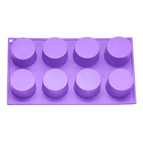 Bakerpan Silicone Muffin Pan Cupcake Tray Baking Cups Cupcake Holders 8 Cups