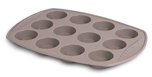 Internets Best Silicone Mini-Muffin Pan  12 Cup  Cupcake Tray  Cake Baking Mold  BPA Free  Dishwasher Safe