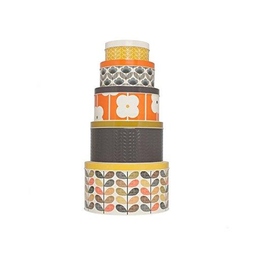 Orla Kiely Round Cake Tin Set 5 per pack