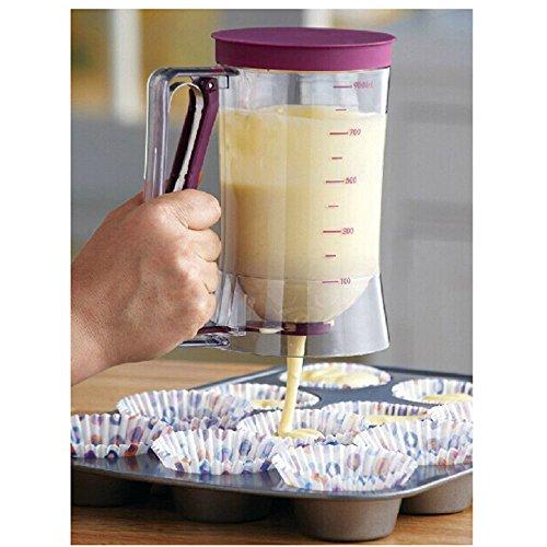 Cupcake Pancake Batter Dispenser Muffin Helper Mix Pastry Jug Baking