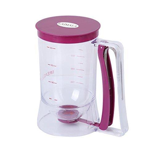 LAIMALA Pancake Batter Dispenser With Measuring Label Cupcake Muffin Pastry Baking Tools