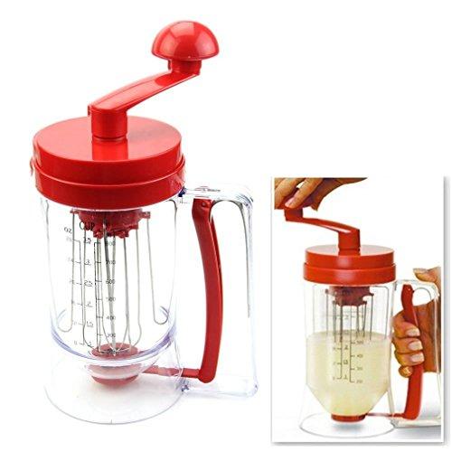 Phifo New Manual Pancake Batter Dispenser Perfect Cupcakes Waffles Breakfast Mixer Mix