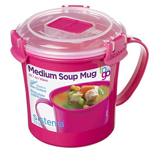 Sistema To Go Collection Microwave Soup Mug 22 oz Pink