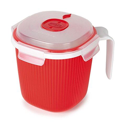 Snips 001700 Microwave Soup Mugs 2-Piece Red
