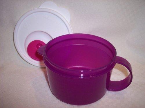 Tupperware CRYSTALWAVE Microwave 16 oz SOUP MUG Bowl New Purple