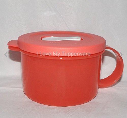 Tupperware Crystalwave Microwave Soup Mug 16 Oz Guava