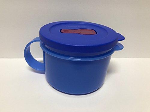 Tupperware Crystalwave Plus Stain Guard Microwave Soup Mug 16 Oz Brilliant Blue