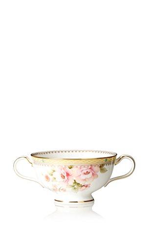 Noritake Hertford Cream Soup Cup WhitePink