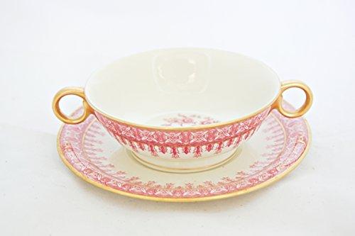Theodore Haviland New York Cambridge Crimson Cream Soup Cup  Bouillon Cup