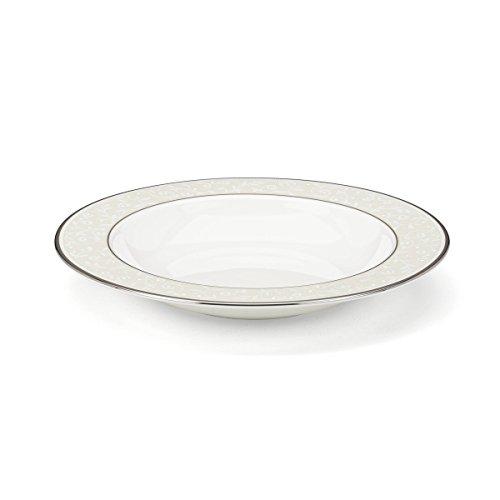 Lenox Opal Innocence Platinum Banded Bone China Pasta BowlRim Soup