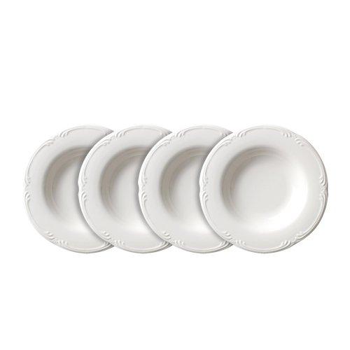 Pfaltzgraff Filigree Rim Soup Bowl 10-Ounce Set of 4 White