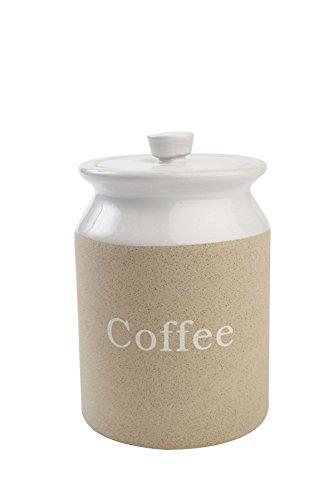 T&G Woodware Stone Design Stoneware Coffee Storage Jar