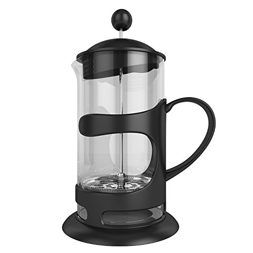 Homdox 1L French Press Tea Maker Espresso Maker 304 Grade Stainless Steel Plunger Heat Resistant Borosilicate Glass 8 Cups 34 Oz