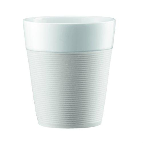 Bodum Bistro 2 Piece Mug with Silicone Sleeve 03 L White