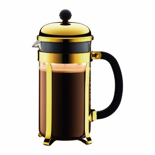 Bodum Chambord 1-Liter 8-Cup Coffee Maker 34-Ounce Gold