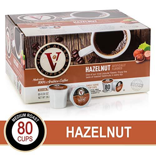 Hazelnut for K-Cup Keurig 20 Brewers 80 Count Victor Allens Coffee Medium Roast Single Serve Coffee Pods