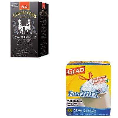 KITCOX70427MLA75415 - Value Kit - Melitta Coffee Pods MLA75415 and Glad ForceFlex Tall-Kitchen Drawstring Bags COX70427