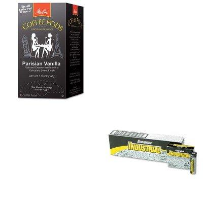 KITEVEEN91MLA75411 - Value Kit - Melitta Coffee Pods MLA75411 and Energizer Industrial Alkaline Batteries EVEEN91