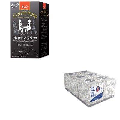KITKIM21271MLA75410 - Value Kit - Melitta Coffee Pods MLA75410 and KIMBERLY CLARK KLEENEX White Facial Tissue KIM21271