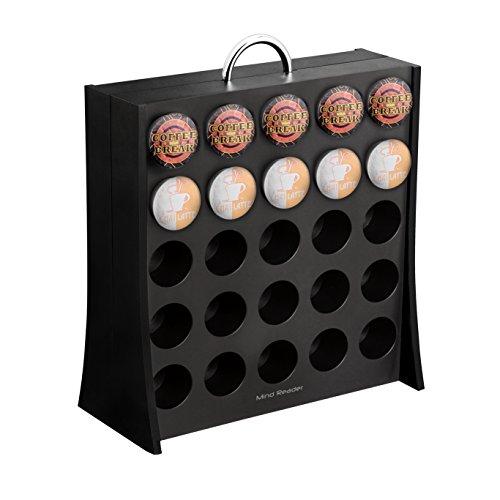 Mind Reader Coffee Pod Storage Rack Holds 50 K-Cup Coffee Pods Self Locking Black