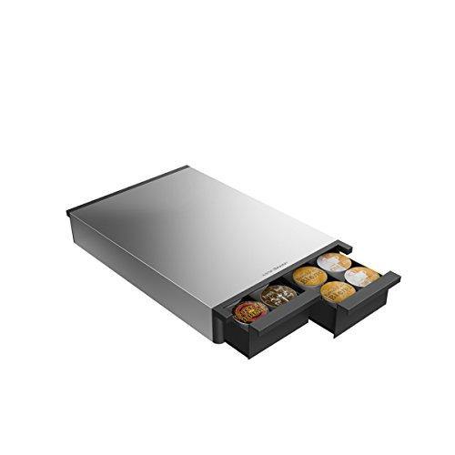 Mind Reader METTRY-BLK Ledge Coffee Pod Storage Drawer Metal