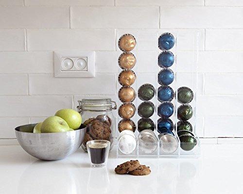 Nespresso Vertuoline Clear Coffee 32 Pods Holder Large Pod Holder Counter Top Storage